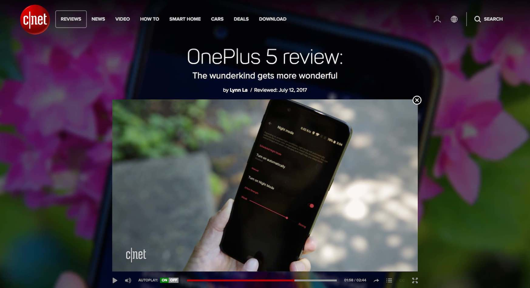 Cnet OnePlus 5 review