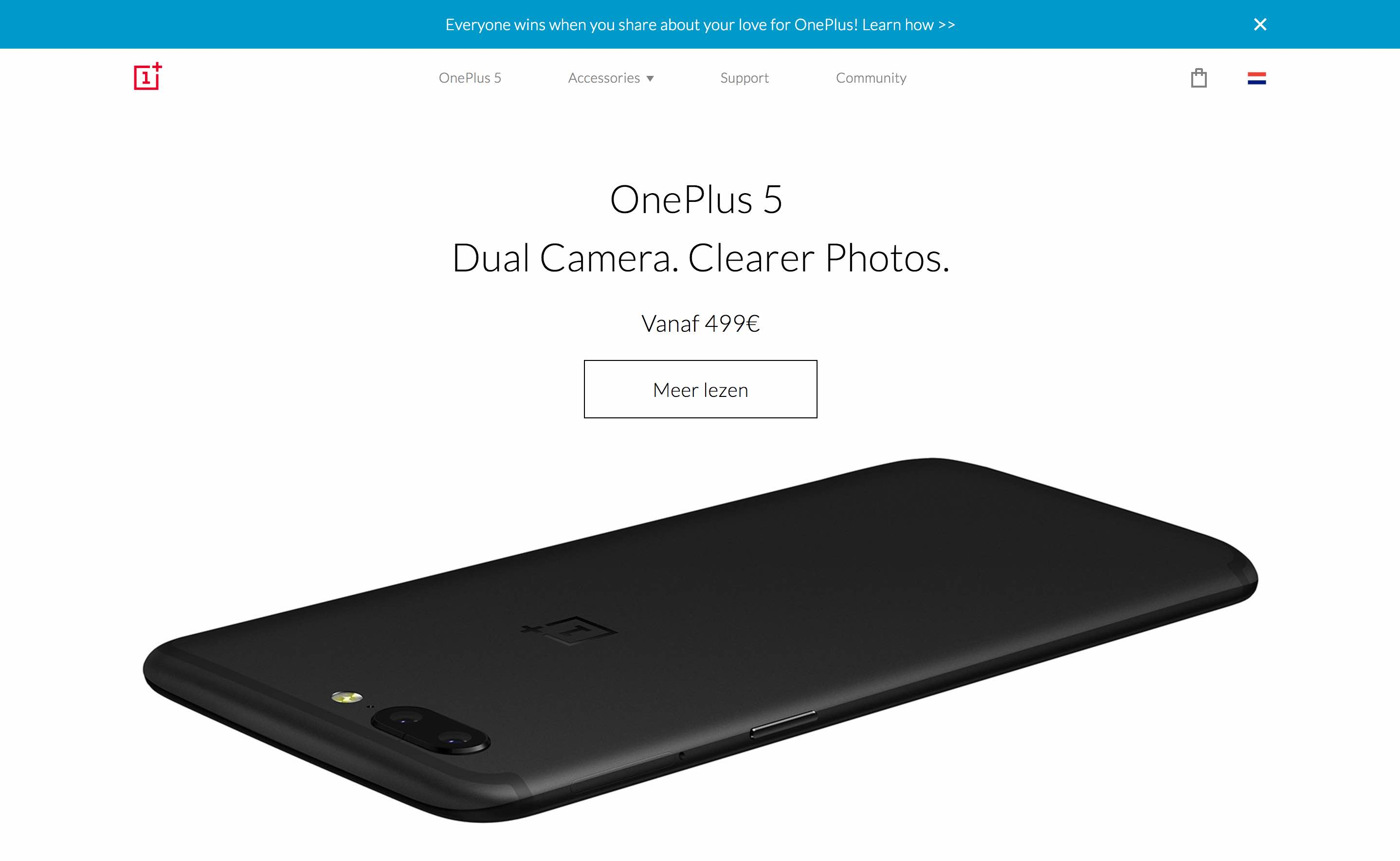 OnePlus homepage