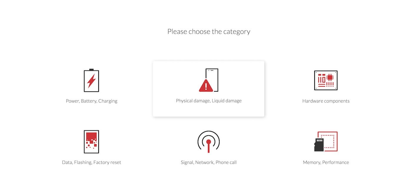 Trouble shooting solver op de OnePlus website