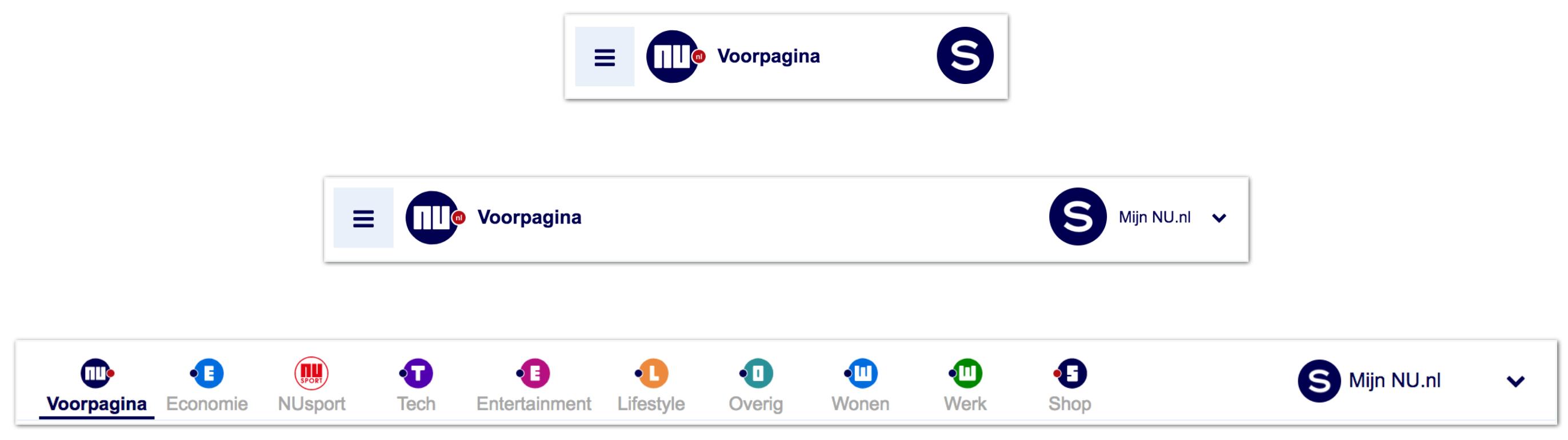 Conversie Design - voorbeeld case responsive navigatie nu.nl