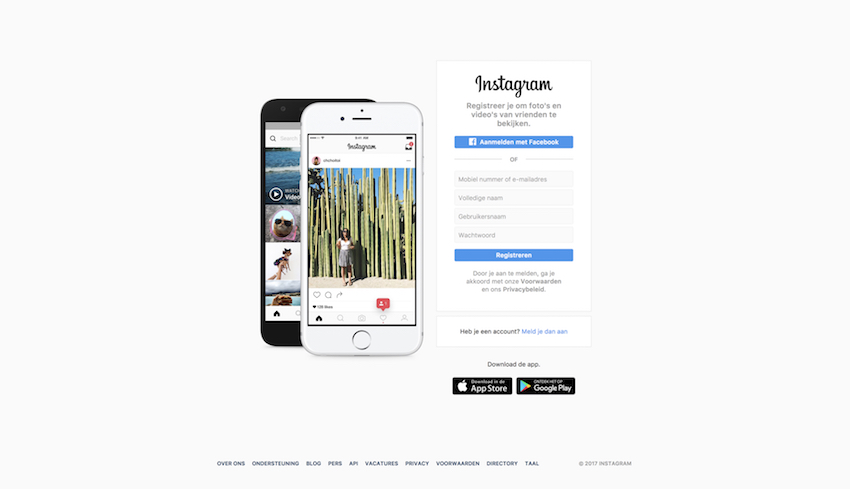 Instagram - Online Community Voorbeeld