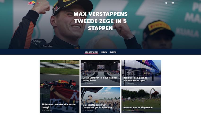 Red Bull - Online Community Voorbeeld