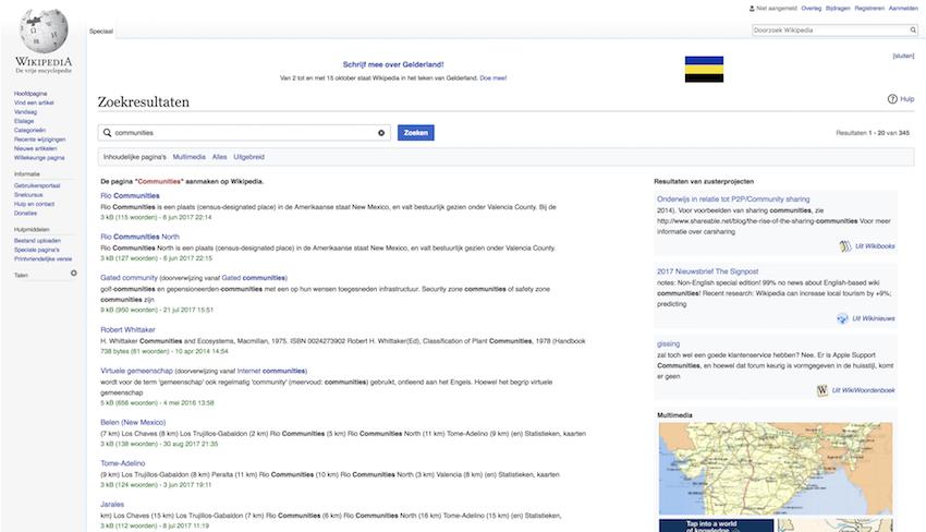 Wikipedia - Online Community Voorbeeld