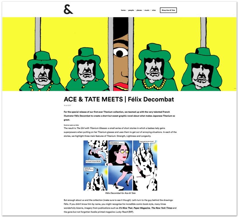 Ace & Tate meets Félix Decombat