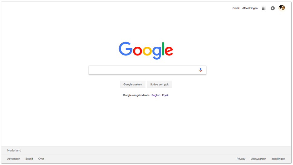 Voorbeeld Case - Google Search Engine
