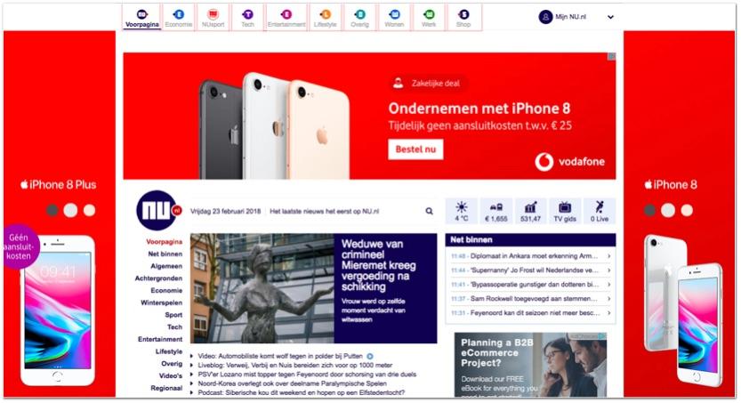 Online advertenties op nu.nl