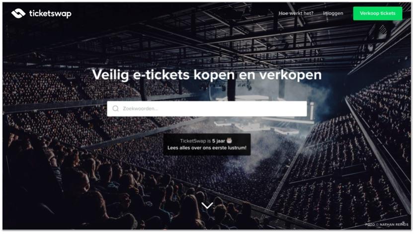 Ticketswap.nl marktplaats model