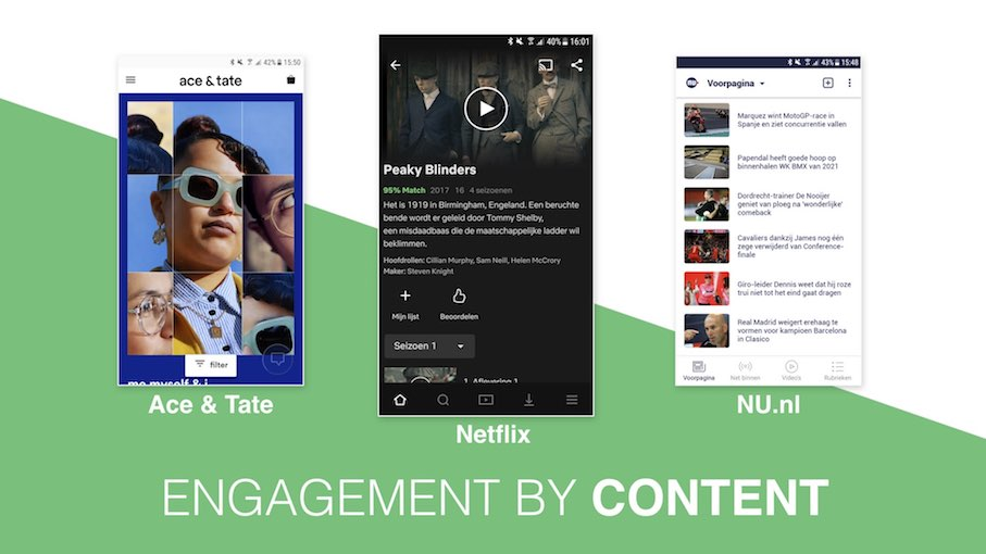 Conversie design - Engagement by Content